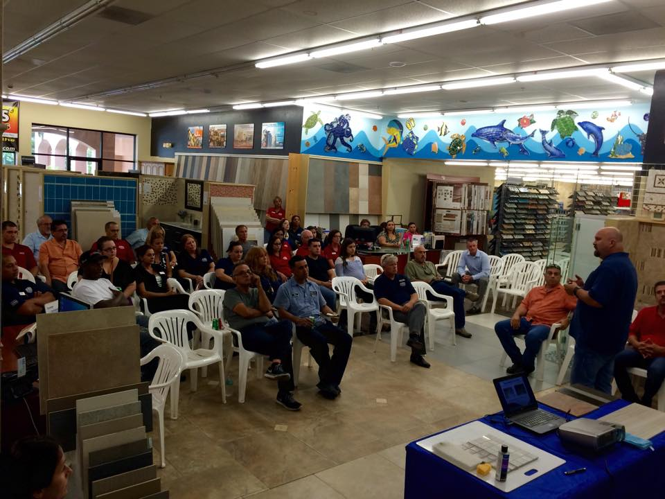 NTCA Tile Instatllation Workshop at D&B Tile in South Florida