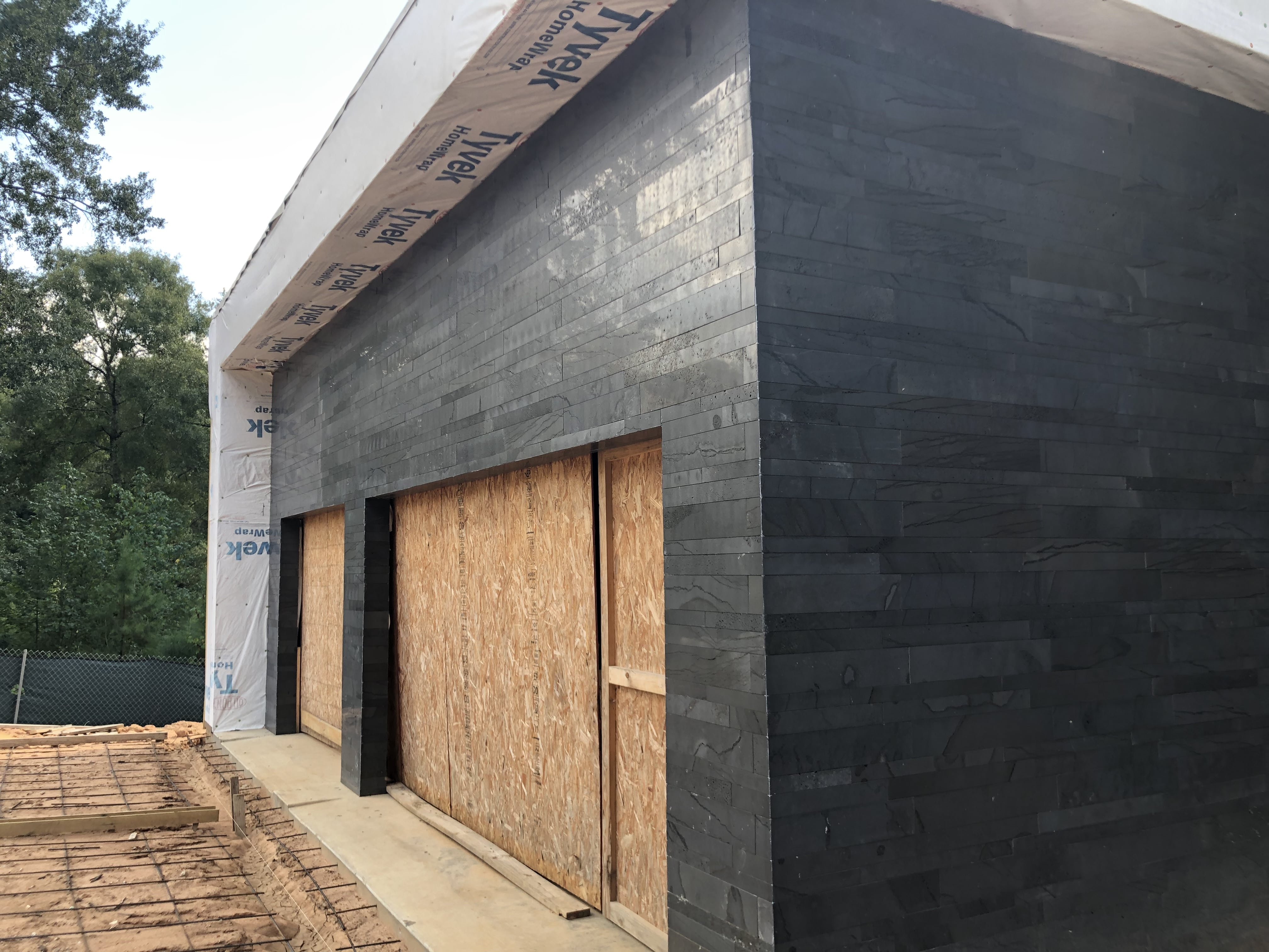 Norstone Graphite Planc Large Format Tile on a Residential Installation in Houston, TX