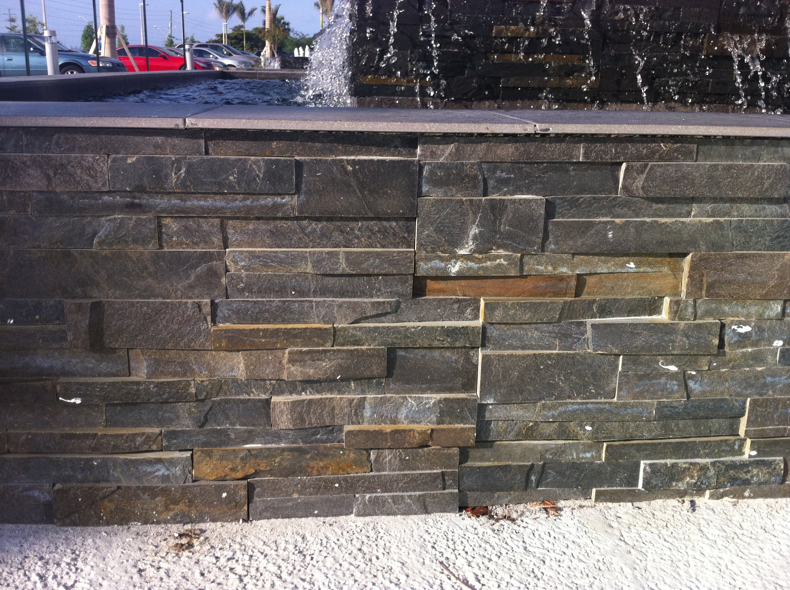Cleaning Rust From Stacked Stone Veneer Norstone Rock Panels