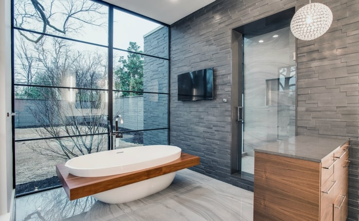 Top 5 Stone Bathroom Projects featuring Norstone Natural Stone Veneer Products