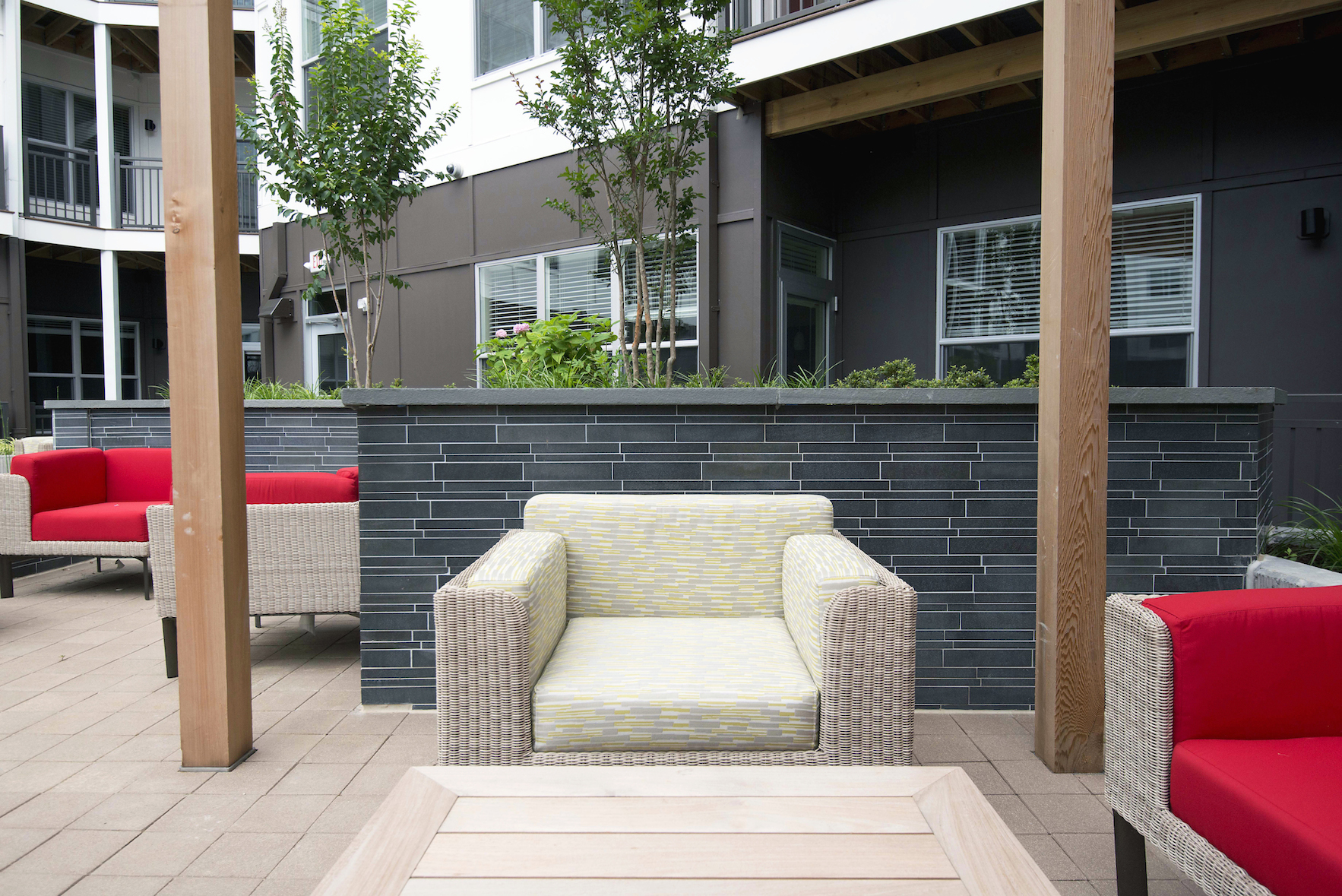 Grey Basalt Interlocking Tile - Landbay J - Washington DC - Outdoor Living