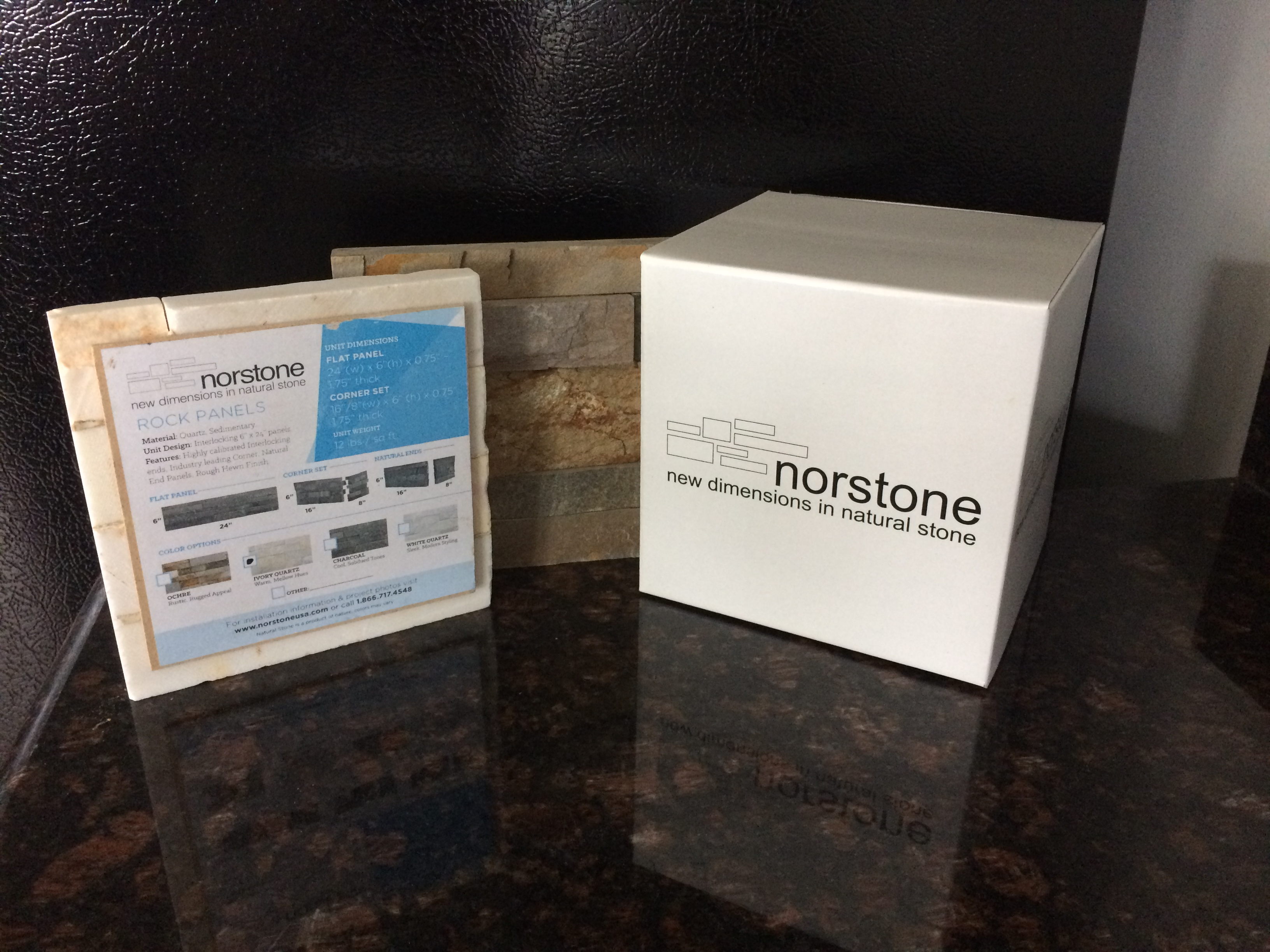 Norstone Stacked Stone Sample Box