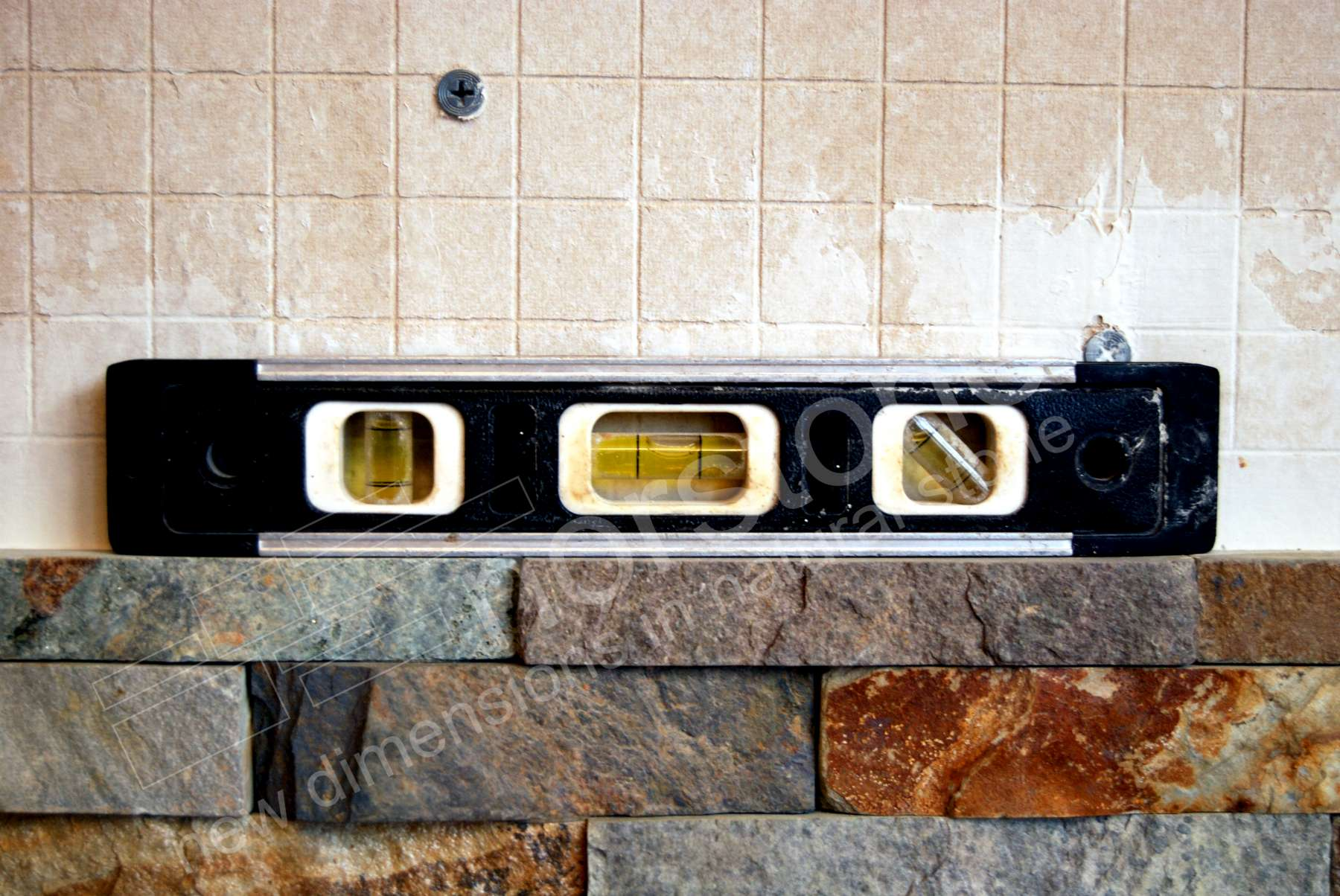 Level on Rock Panel Installation