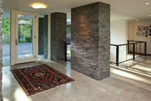 Charcoal Natural Stone Foyer