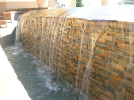 Natural Stone Pool Spillway