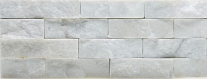 Split face stone white rock panel