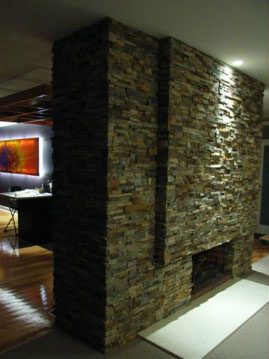 Stone Veneer over Brick Norstone Classroom Series