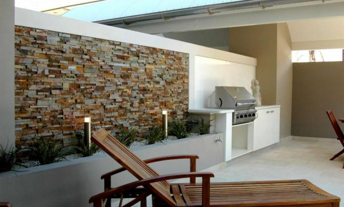 Natural Stacked Stone Veneer for Outdoor Grills
