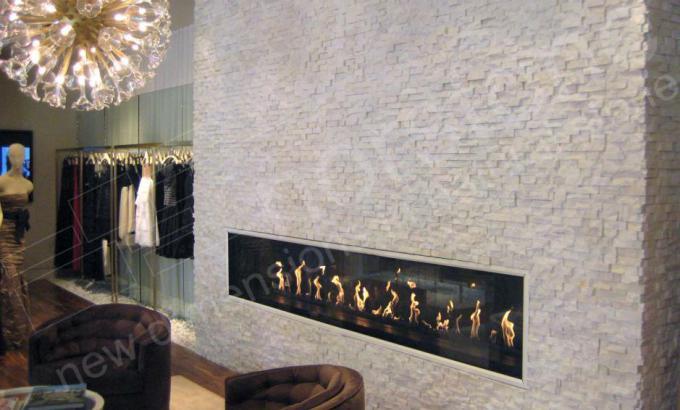 White Quartz Natural Stacked Stone Veneer for Fireplace