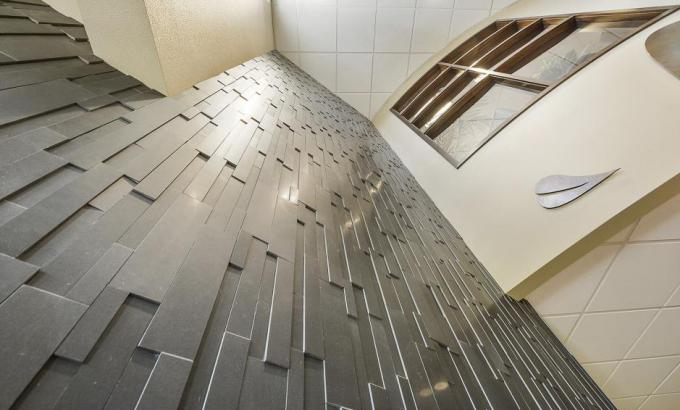 Black Stacked Stone Wall Tile