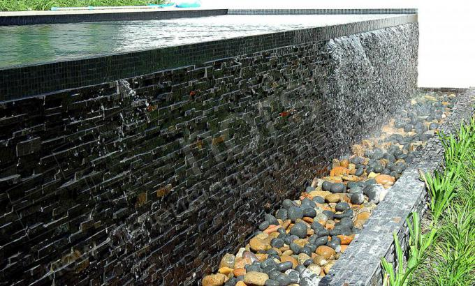 Natural Stacked Stone Water Feature