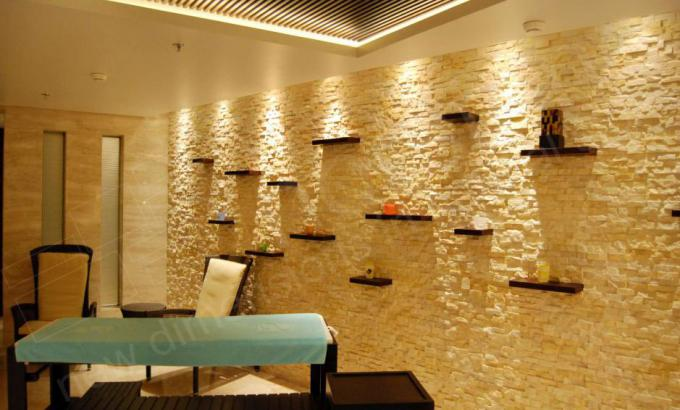 Ivory Rock Panels for Modern Natural Stacked Stone Feature Walls