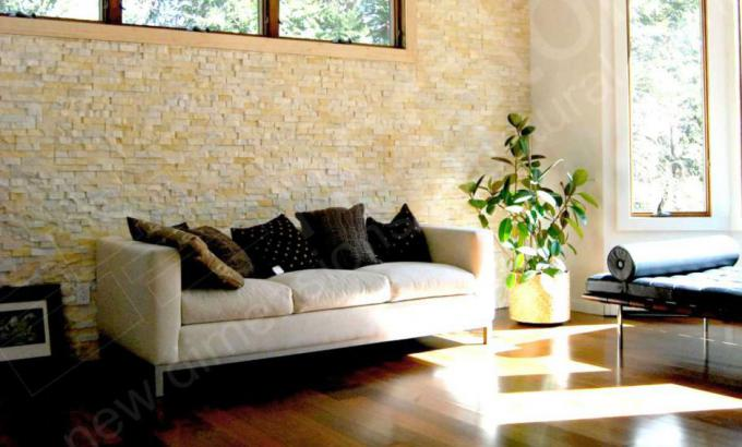 Ivory Rosal Stacked Stone Veneer for Feature Walls