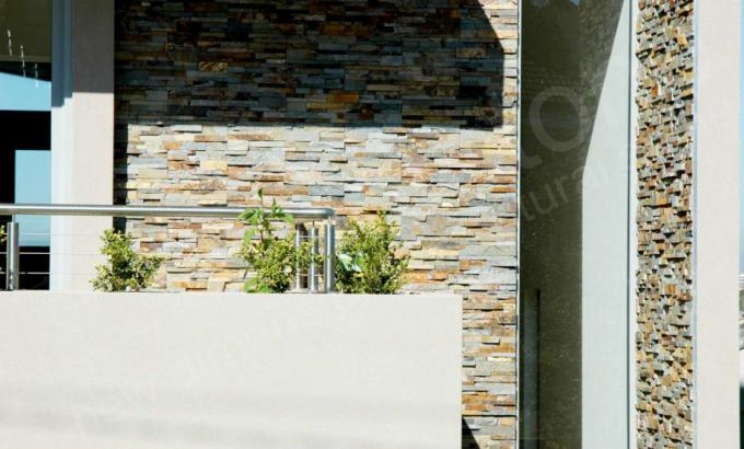 Natural Stacked Stone Veneer used on a Residential Facade