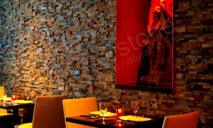 Natural Stacked Stone Veneer used in a restaurant
