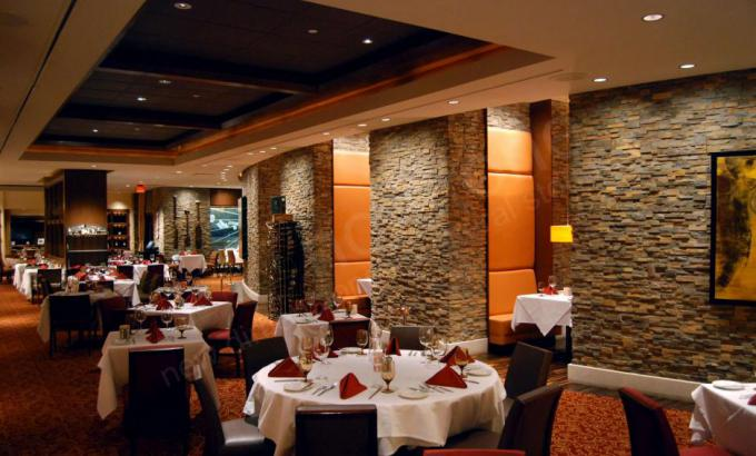 Natural Stacked Stone Veneer in a restaurant