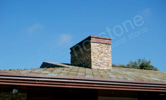 Natural Stacked Stone Veneer for a chimney
