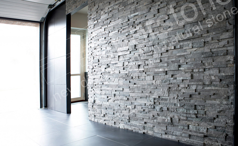 Natural stone feature wall stacked stone veneer feature wall for Feature wall exterior
