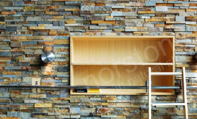 Natural Stacked Stone Veneer for Feature Wall