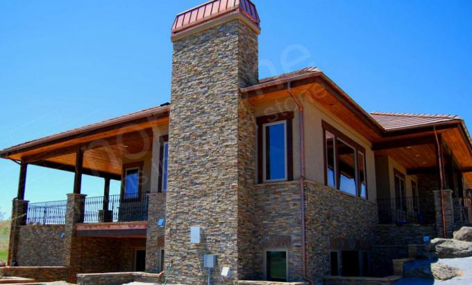Dry Stacked Stone House