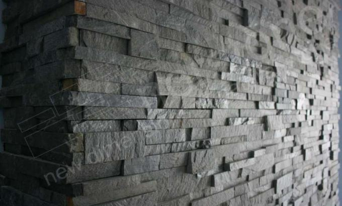 Close up example of modern natural stone veneer