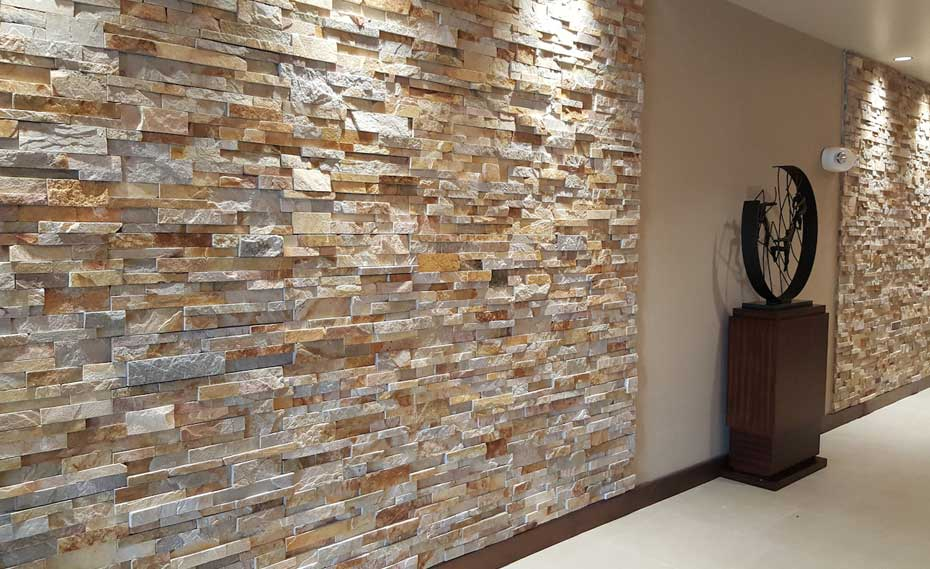 Interior Stacked Stone Veneer Wall Panels Stone Wall