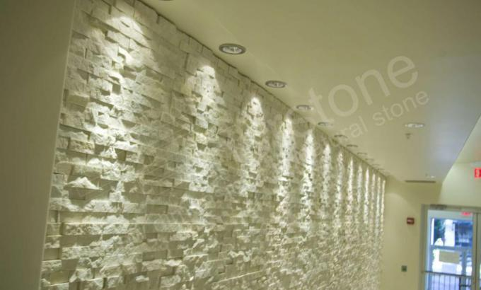 Natural Stacked Stone Veneer used in an office