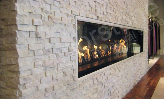 White Quartz Natural Stacked Stone Veneer For Fireplace