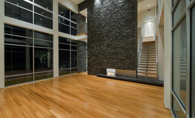 Gray Stacked Stone Panels for Fireplace