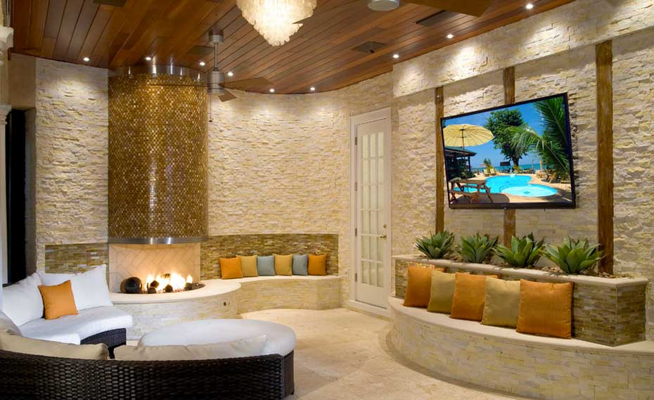Natural Stone Feature Wall Stacked Stone Veneer Feature Wall