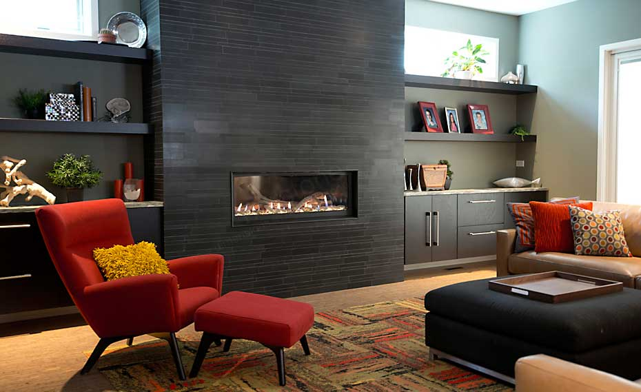 Modern Fireplace Stone Surround