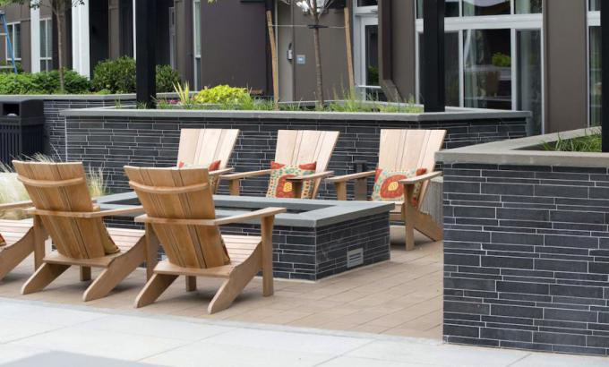 Natural Stone Basalt Wall Tile Landscape Veneer Wall in Washington DC