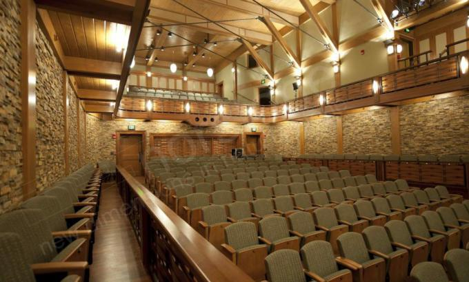 Stacked Stone Veneer Feature Walls for Theater