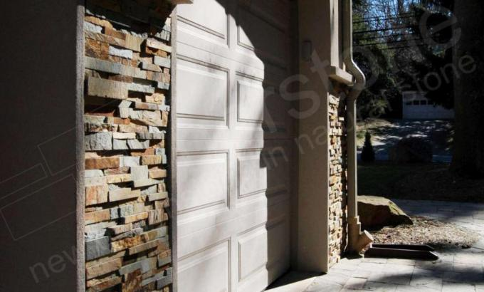 Thin Stone Veneer on a Garage