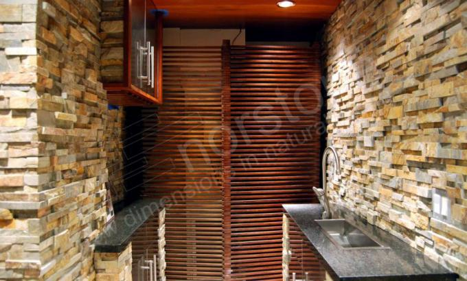 Natural Stacked Stone Veneer Cellar