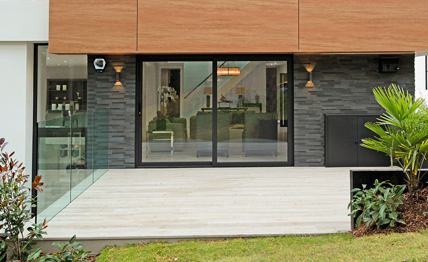 Gorgeous 3D Panel Facade in Grey Basalt
