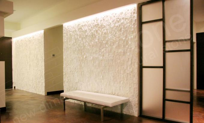 White Quartz Natural Stacked Stone Veneer for Feature Walls