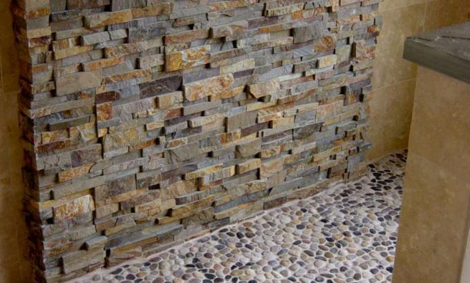 Natural Stone Showers Stacked Stone Veneer Panels For Shower Walls - Fake tile panels for bathroom walls