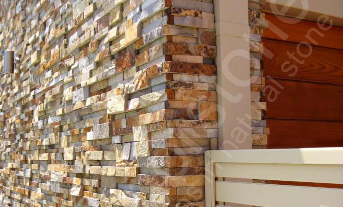 Natural Stacked Stone Veneer Example
