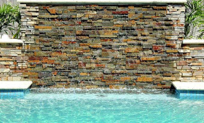 Norstone Stacked Stone Veener Rock Panels for Pools