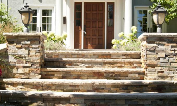 Natural Stone Entryway
