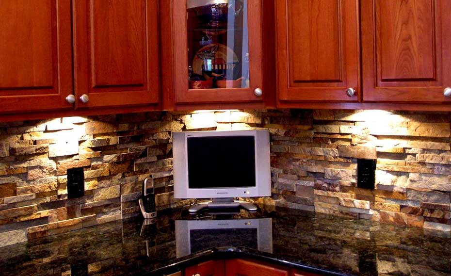 Norstone Stacked Stone Veneer Rock Panels For A Layered Stone Kitchen  Backsplash