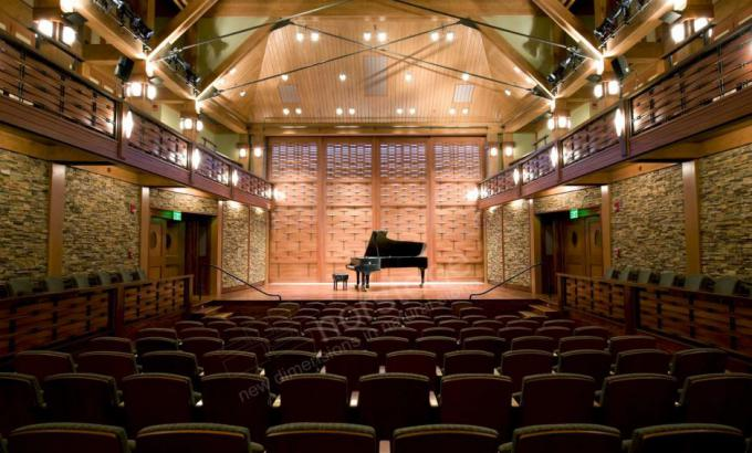 Real Stacked Stone Used in a Concert Hall