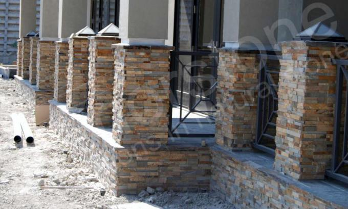 Natural Stacked Stone Veneer Rock Panels for Columns