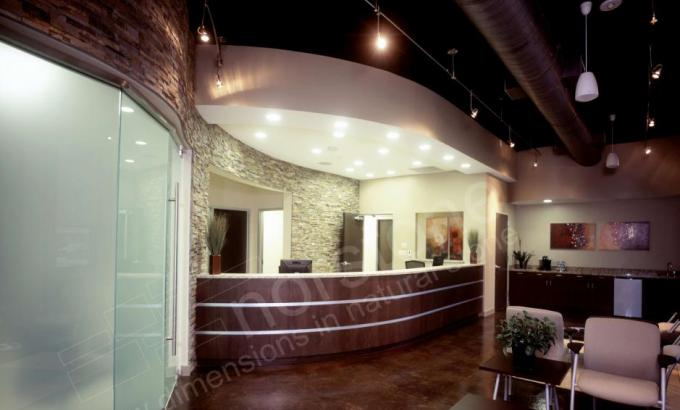 Stacked Stone Wall for Office