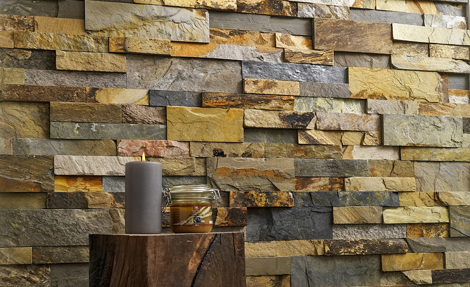 Interior Stacked Stone Veneer Wall Panels Paneling