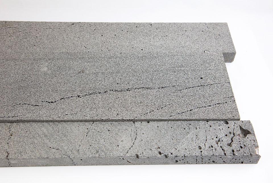 Close Up Platinum Grey Lava Stone Planc