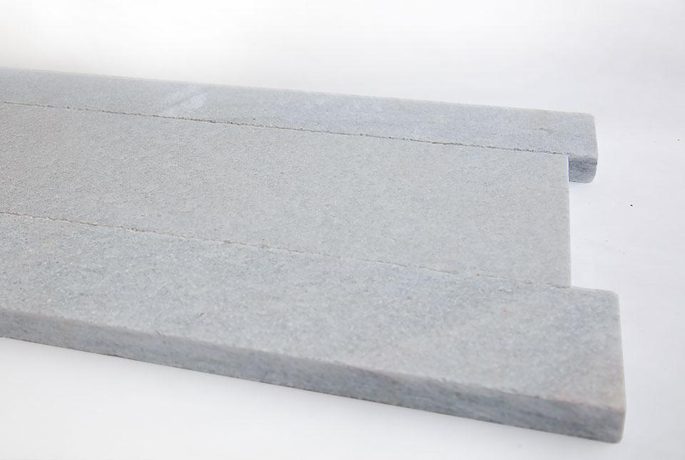 Close Up Silver Grey Quartz Planc Natural Stone