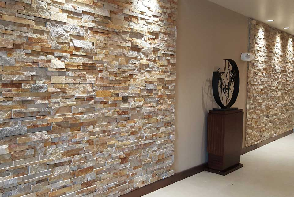 Aztec Xl Rock Panel Large Format Natural Stacked Stone