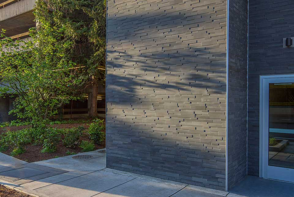 Grey Stacked Stone Veneer Panels for Commercial Buildings